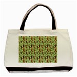Puppy Dog Pattern Basic Tote Bag Front