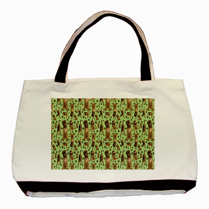 Puppy Dog Pattern Basic Tote Bag