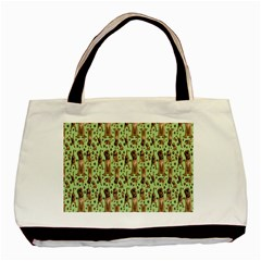 Puppy Dog Pattern Basic Tote Bag (two Sides)