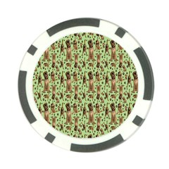 Puppy Dog Pattern Poker Chip Card Guard (10 Pack)