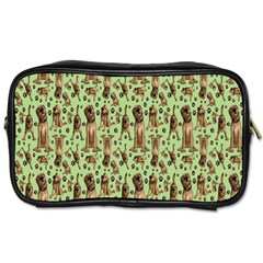 Puppy Dog Pattern Toiletries Bags 2 Side
