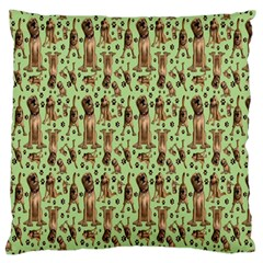 Puppy Dog Pattern Large Cushion Case (two Sides)