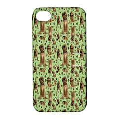 Puppy Dog Pattern Apple iPhone 4/4S Hardshell Case with Stand