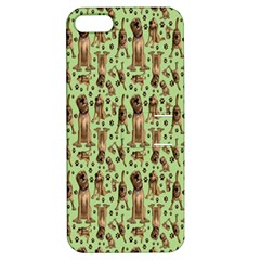 Puppy Dog Pattern Apple Iphone 5 Hardshell Case With Stand
