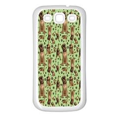 Puppy Dog Pattern Samsung Galaxy S3 Back Case (white)