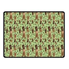 Puppy Dog Pattern Double Sided Fleece Blanket (small)