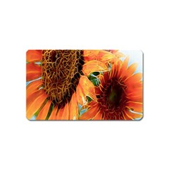 Sunflower Art  Artistic Effect Background Magnet (name Card)