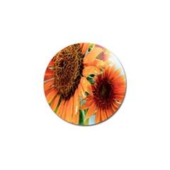 Sunflower Art  Artistic Effect Background Golf Ball Marker