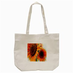 Sunflower Art  Artistic Effect Background Tote Bag (Cream)