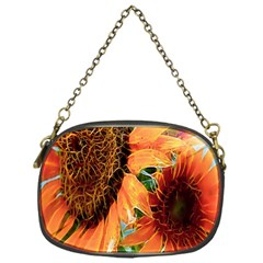 Sunflower Art  Artistic Effect Background Chain Purses (one Side)