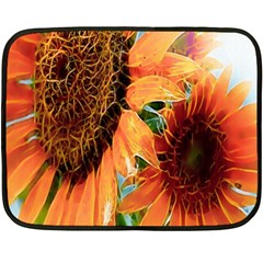 Sunflower Art  Artistic Effect Background Double Sided Fleece Blanket (mini)