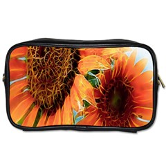 Sunflower Art  Artistic Effect Background Toiletries Bags 2 Side
