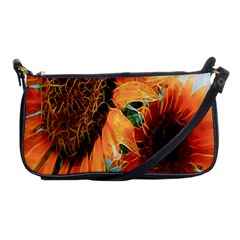 Sunflower Art  Artistic Effect Background Shoulder Clutch Bags