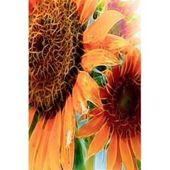 Sunflower Art  Artistic Effect Background 5 5  X 8 5  Notebooks