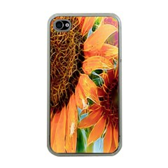 Sunflower Art  Artistic Effect Background Apple Iphone 4 Case (clear)