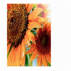 Sunflower Art  Artistic Effect Background Large Garden Flag (two Sides)