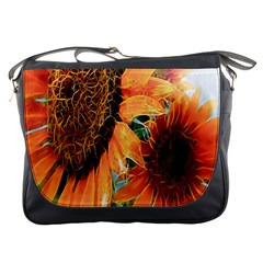 Sunflower Art  Artistic Effect Background Messenger Bags