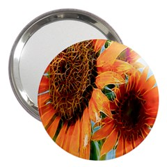 Sunflower Art  Artistic Effect Background 3  Handbag Mirrors