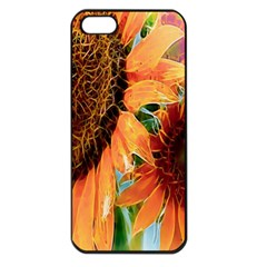 Sunflower Art  Artistic Effect Background Apple iPhone 5 Seamless Case (Black)