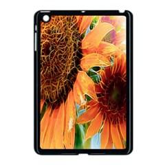 Sunflower Art  Artistic Effect Background Apple iPad Mini Case (Black)