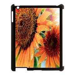 Sunflower Art  Artistic Effect Background Apple Ipad 3/4 Case (black)