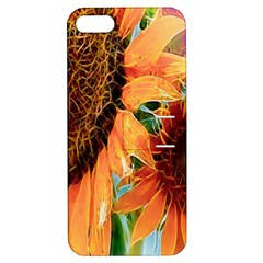 Sunflower Art  Artistic Effect Background Apple iPhone 5 Hardshell Case with Stand