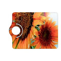 Sunflower Art  Artistic Effect Background Kindle Fire Hd (2013) Flip 360 Case