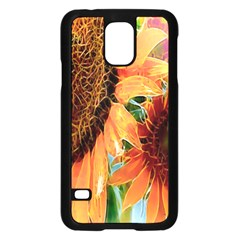 Sunflower Art  Artistic Effect Background Samsung Galaxy S5 Case (Black)