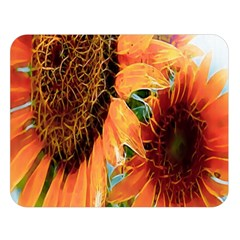 Sunflower Art  Artistic Effect Background Double Sided Flano Blanket (large)