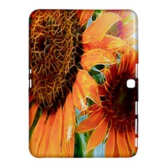 Sunflower Art  Artistic Effect Background Samsung Galaxy Tab 4 (10 1 ) Hardshell Case