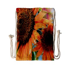 Sunflower Art  Artistic Effect Background Drawstring Bag (Small)