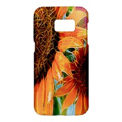 Sunflower Art  Artistic Effect Background Samsung Galaxy S7 Hardshell Case