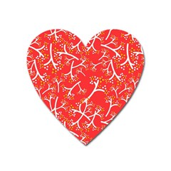 Small Flowers Pattern Floral Seamless Pattern Vector Heart Magnet