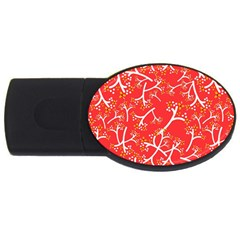 Small Flowers Pattern Floral Seamless Pattern Vector Usb Flash Drive Oval (2 Gb)