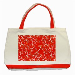 Small Flowers Pattern Floral Seamless Pattern Vector Classic Tote Bag (red)