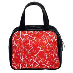 Small Flowers Pattern Floral Seamless Pattern Vector Classic Handbags (2 Sides)
