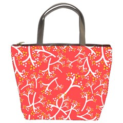 Small Flowers Pattern Floral Seamless Pattern Vector Bucket Bags