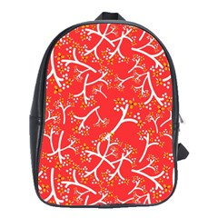Small Flowers Pattern Floral Seamless Pattern Vector School Bags(large)