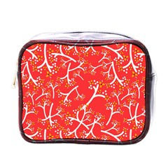 Small Flowers Pattern Floral Seamless Pattern Vector Mini Toiletries Bags