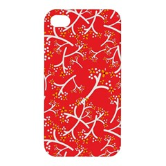 Small Flowers Pattern Floral Seamless Pattern Vector Apple Iphone 4/4s Premium Hardshell Case