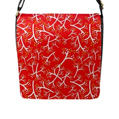 Small Flowers Pattern Floral Seamless Pattern Vector Flap Messenger Bag (l)