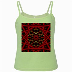 Fractal Wallpaper With Red Tangled Wires Green Spaghetti Tank