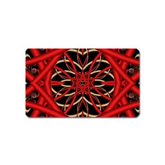 Fractal Wallpaper With Red Tangled Wires Magnet (Name Card)