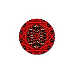 Fractal Wallpaper With Red Tangled Wires Golf Ball Marker (10 Pack)