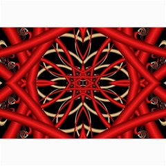 Fractal Wallpaper With Red Tangled Wires Canvas 24  x 36