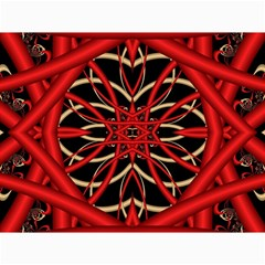 Fractal Wallpaper With Red Tangled Wires Canvas 36  X 48