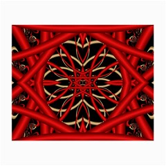 Fractal Wallpaper With Red Tangled Wires Small Glasses Cloth (2 Side)