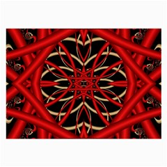 Fractal Wallpaper With Red Tangled Wires Large Glasses Cloth (2 Side)