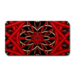 Fractal Wallpaper With Red Tangled Wires Medium Bar Mats