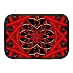Fractal Wallpaper With Red Tangled Wires Netbook Case (Medium)